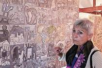 Výtvarnice Bohdana Holubcová vystavuje v Green House.