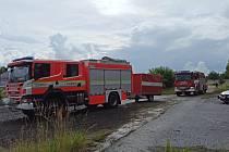 Odřad hasičů z Karlovarského kraje na pomoc jižní Moravě.