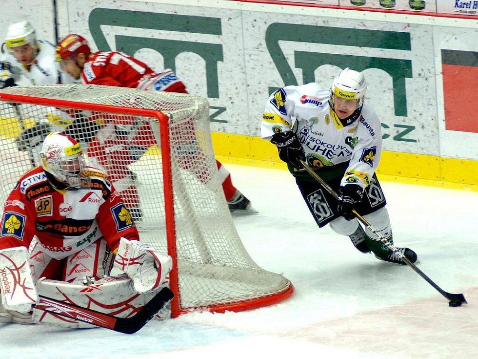 4. zápas předkola mezi HC Energie Karlovy Vary - HC Slavia Praha