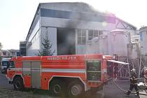 Požár lakovny v Horním Žďáru.