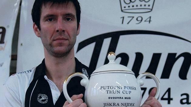 Jan Klimaj (na snímku) se na THUN Cupu stal teprve třetím domácím vítězem dvouhry. Loni zvítězila Nesvedová a v roce 2002 Miloš Kamaryt, který letos vybojoval bronz.