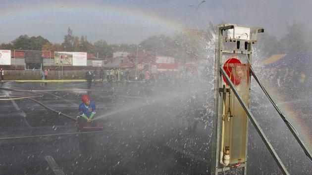 Soutěž o pohár hejtmanky v požárním útoku