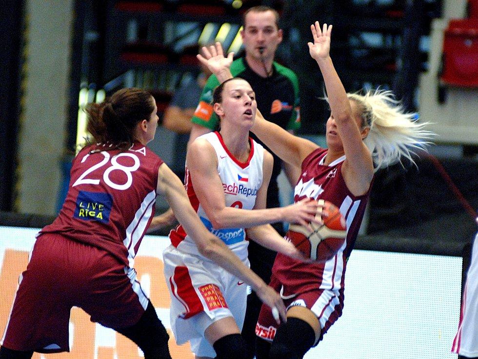 České basketbalistky si to rozdaly s Lotyšskem.