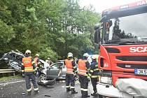 Tragická nehoda na silnici I/6 v úseku U Střelnice z 23. srpna.