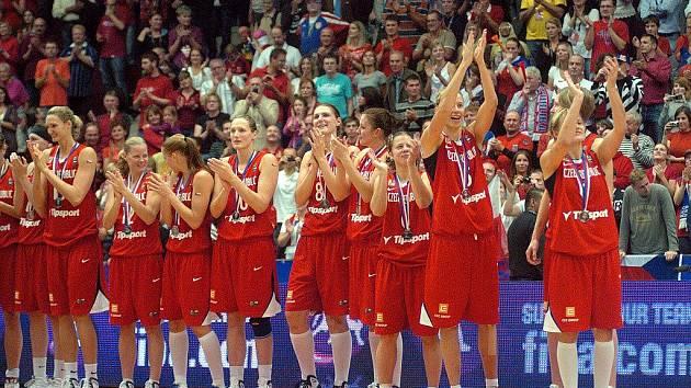 České basketbalistky získaly stříbrné medaile