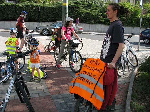 Cyklojízda za zlepšení podmínek pro cyklisty ve městě.