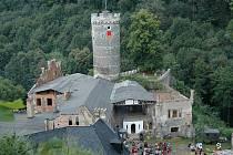 Horní hrad, známý také jako Hauenštejn.