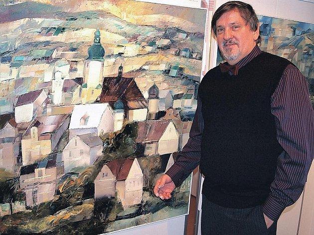V galerii u Vavřince v Chodově vystavuje svá díla chebský rodák František Tumpach.