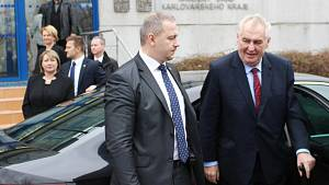 První den návštěvy prezidenta v Karlovarské kraji
