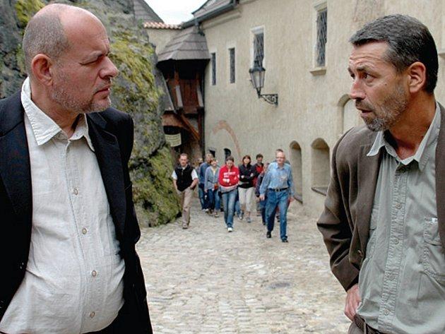 Ministr Jehlička na Horním hradě.