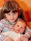 Se sestřičkou Natálkou Daneček Strunga; 27. srpna 2008 v 11.56 v Kadani; 3.720 g, 51cm.