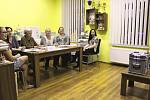 Volební místnost v Andělské Hoře na Karlovarsku.