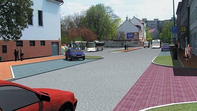Takto bude po celkové rekonstrukci vypadat ulice Závodu míru ve Staré Roli. Doprava by měla být zklidněna a komunikace bude mít podobu bulváru.