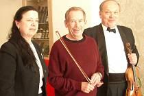 Vzácný host Václav Havel.