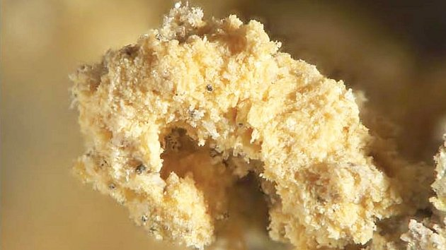MINERÁL RIETVELDIT připomíná střídku chleba. Byl zjištěn ve starém muzejním vzorku a současně ve vzorcích z dolů v Utahu a uhelného dolu u Drážďan.
