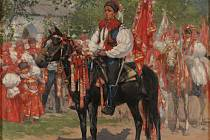 Vyvolávač z Jízdy králů, Joža Uprka.