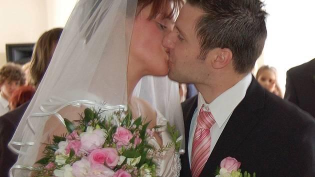 Kristýna a František se v Šemnici brali jako první pár od války.
