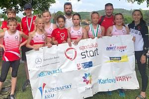 Atleti SC Start Karlovy Vary se představili ve Stříbře na mistrovství Plzeňského a Karlovarské kraje.