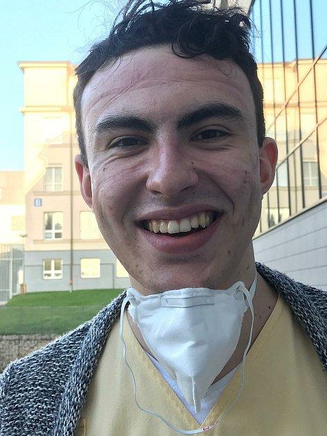 Student ostrovského gymnázia Tomáš Lehečka.