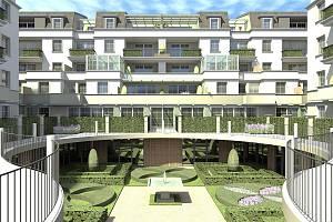 V areálu někdejšího zahradnictví v ulici Na Vyhlídce má dle schváleného projektu vyrůst komplex sedmi vilových domů s devadesáti osmi byty.