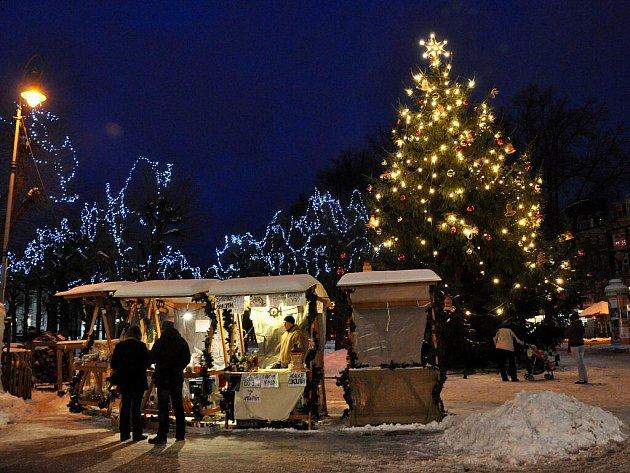 Vánoční strom v Karlových Varech