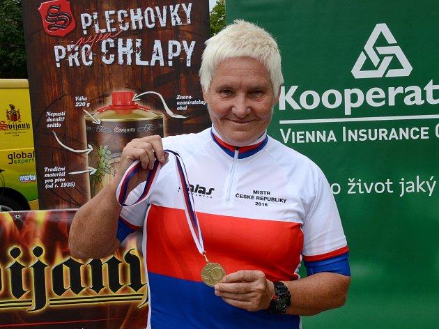 Věra Ježková získala tři medaile na Mistrovství republiky v silniční cyklistice