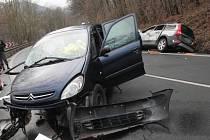 Dopravní nehoda u Stráže nad Ohří.