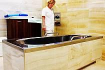 NOVÉ BALNEOPROVOZY. Zcela novou a moderní podobu dostaly radonové koupele.