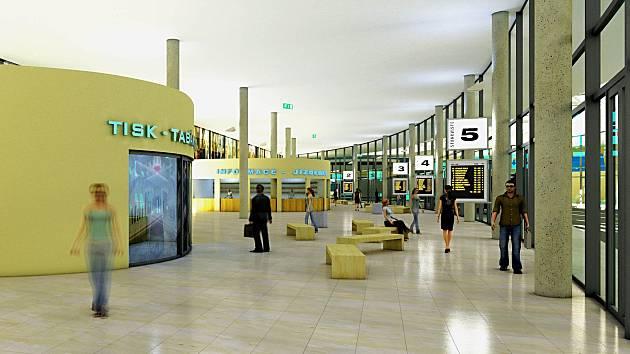 Studie odbavovací haly nového terminálu.