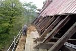 Oprava kostela ve Velichově