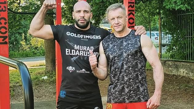 Murad Eldarushev s trenérem Ladislavem Ivančákem