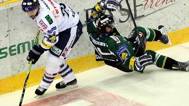 Extraligové hokejové utkání libereckých Bílých Tygrů s Energií Karlovy Vary.