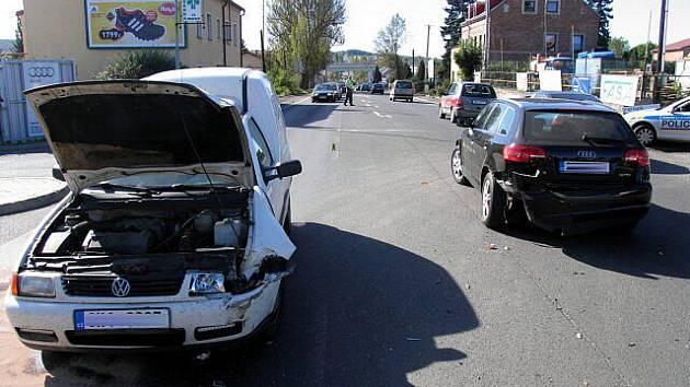 Řidička Audi nedala přednost