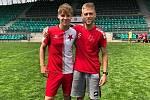 Poslední utkání v dresu Slavie odehrál záložník Pavel Maňák (vpravo), který si vyzkouší zahraniční angažmá.
