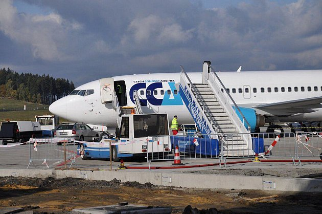 Z karlovarského letiště odletělo ve čtvrtek 20. října první letadlo na pravidelné lince do ruského Rostova na Donu