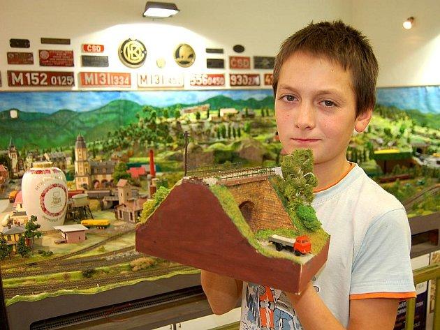 S modelem tunelu vybojoval Petr Čech na letošní soutěži sedmé místo.