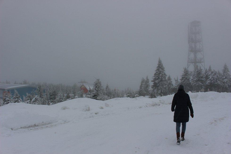 Štědrý den na Klínovci a na Božím Daru v Krušných horách.