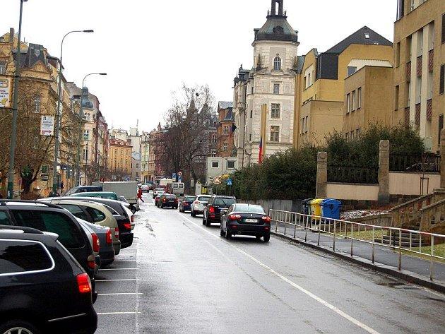 Moskevská ulice v Karlových Varech.