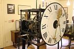 Originální hodinový stroj z 16. století z věže kostela v Radošově