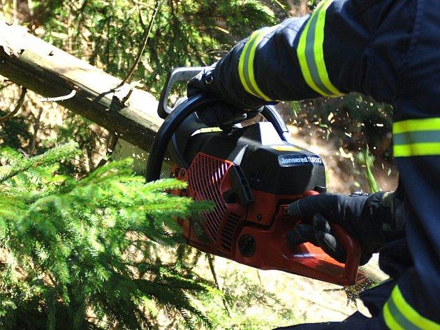 Kvůli krátké, ale prudké bouřce, řešili hasiči přes dvě desítky událostí. Většinou odstraňovali popadané stromy.