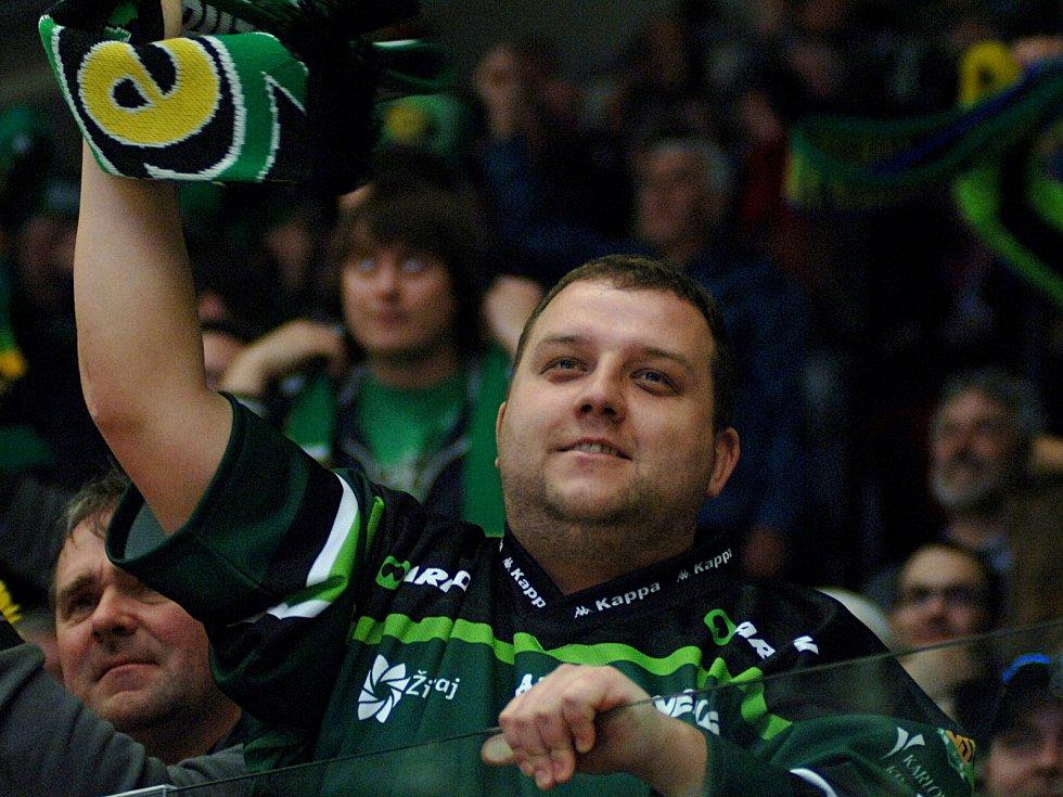 HC Energie (v zeleném) hostila Duklu JihlavaDiváci,