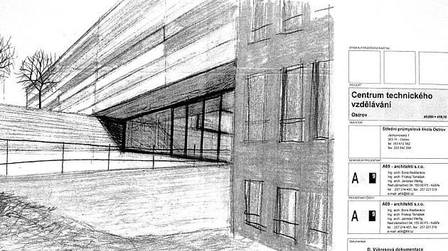 TAK BY MĚLA VYPADAT. Předběžný návrh toho, jak by měla vypadat Základní škola v Klínovecké ulici po dostavbě, je k vidění na ostrovské radnici.