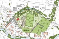 Urbanistická studie sportovního centra v Ostrově – Kfelech.