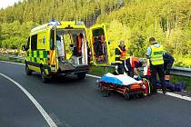 Tragická nehoda motorkáře u Bochova