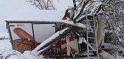 Nehoda dodávky u Kynšperka na Sokolovsku.