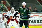 Hokejisté karlovarské Energie (v zeleném) hostili Jestřáby z Prostějova.
