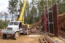 Stavba nové sjezdovky