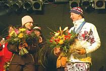 Lukáš Bauer při slavnostním přivítání na Božím Daru po návratu z olympiády