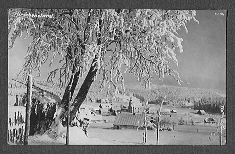 Dnes už zaniklá obec Jelení, 30. léta.