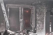 Požár bytu v Ostrově.